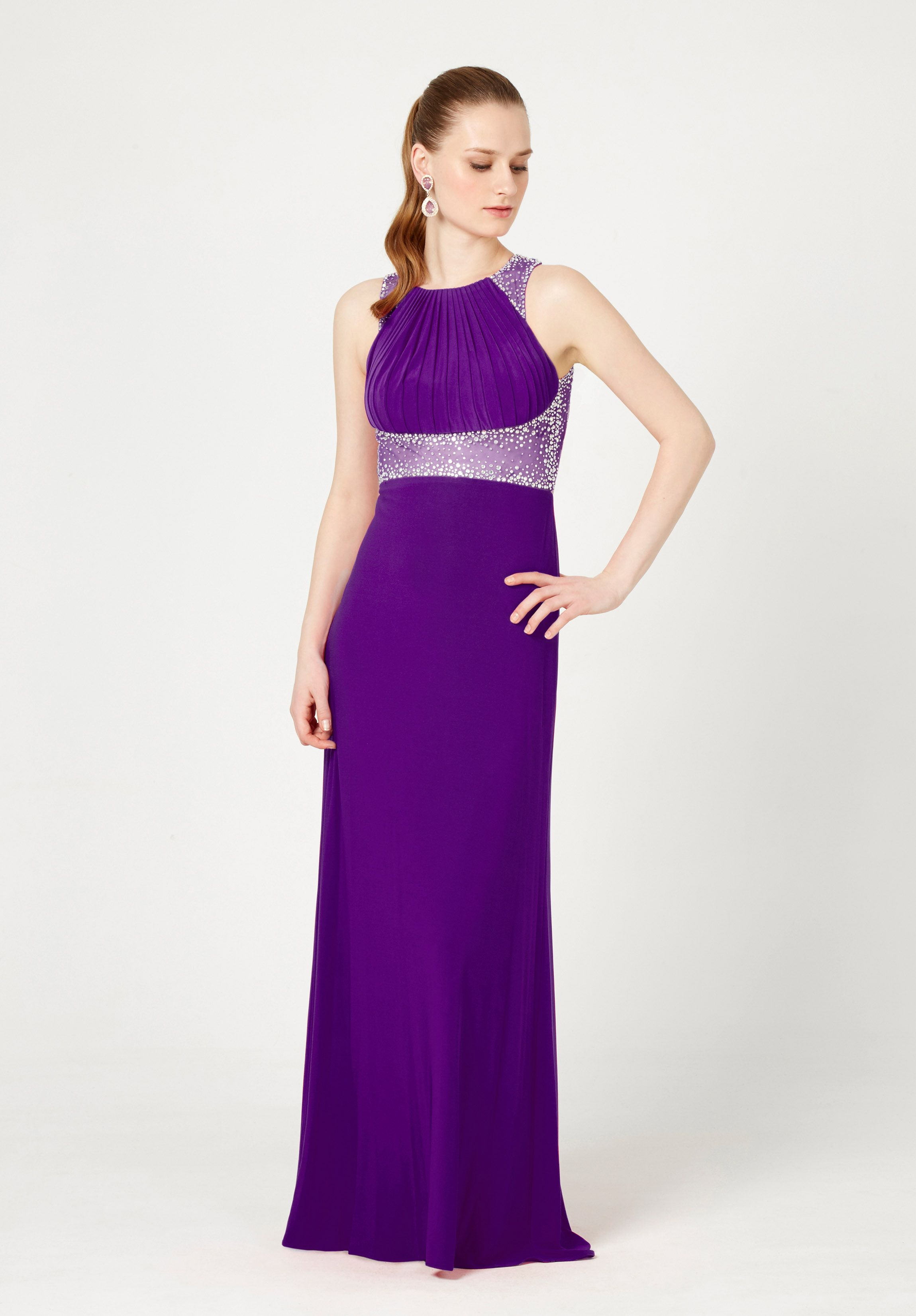 Vestidos para damas de honor en color violeta y morado
