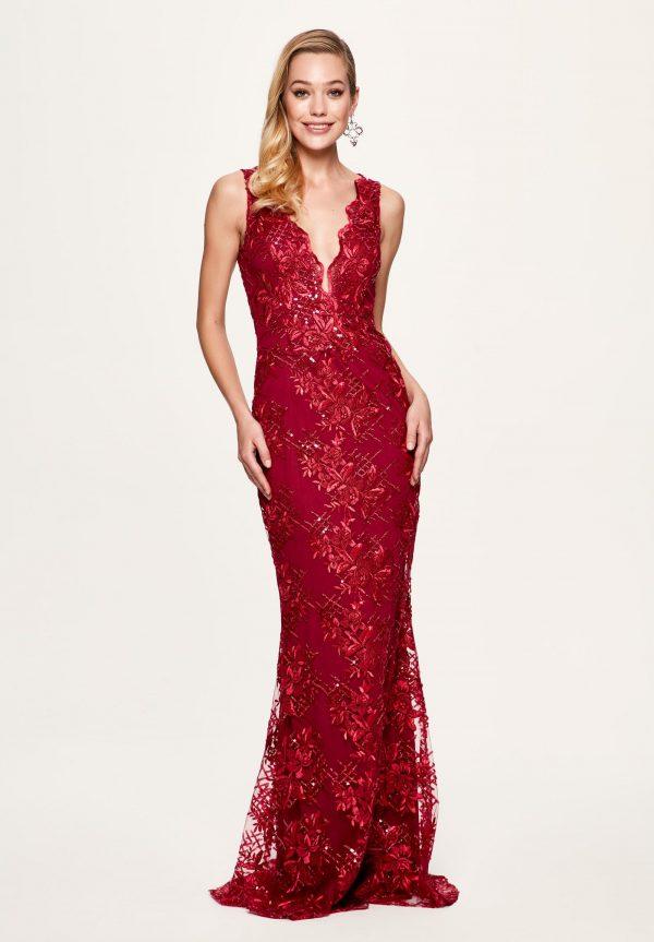 Corte sirena en vestidos rojos